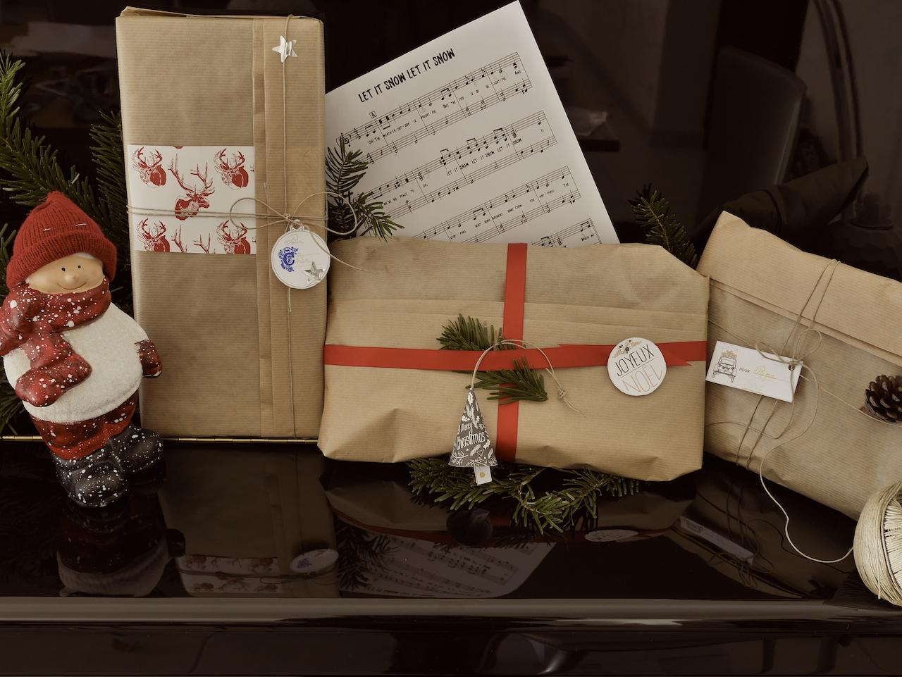 Paquets cadeaux ensemble rose philange - Paquets cadeaux noel ...