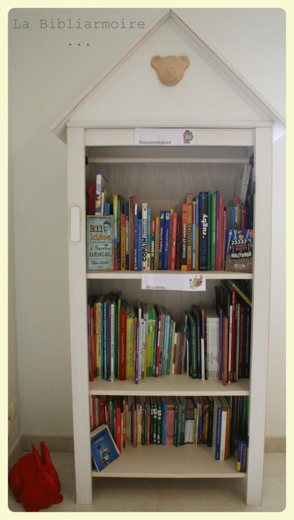 DIY bibliothèque enfant dans une Armoire