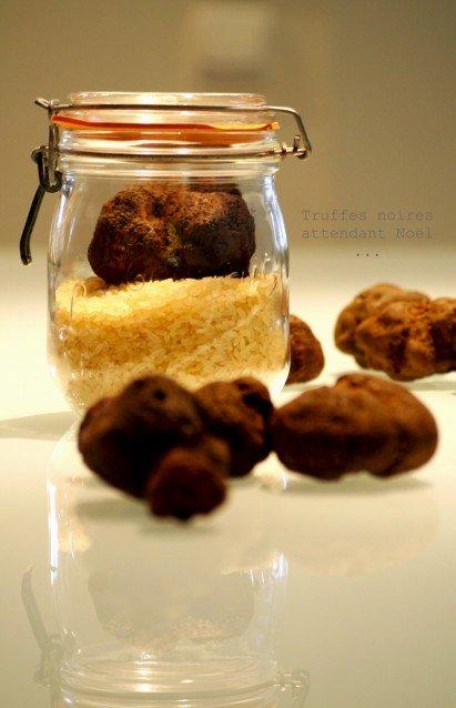 Truffes noires et risotto