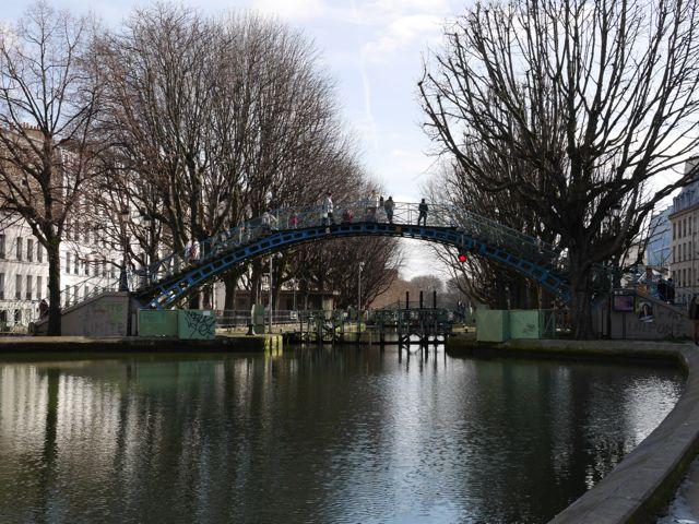Paris à pied : Vue du Canal St Martin