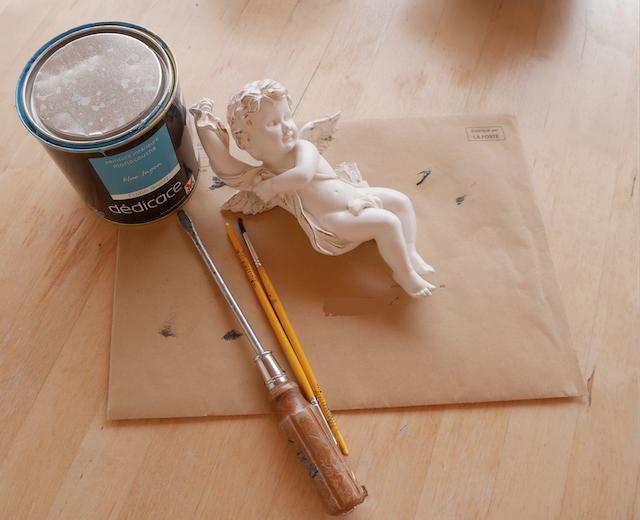 DIY, peinture sur chérubin