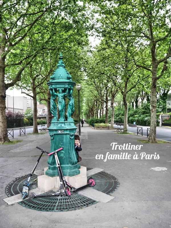 Trottinette avenue René Coty Paris