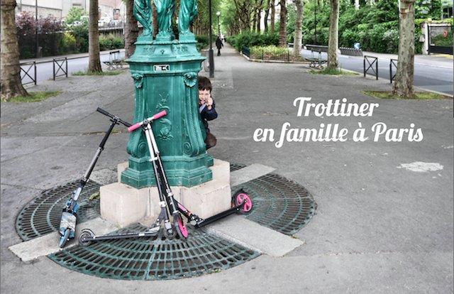 Trottinette en famille Paris