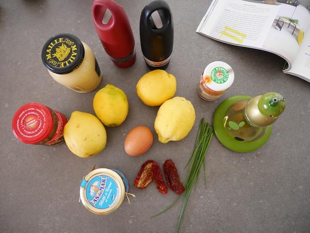 Ingrédients tapas citrons farcs