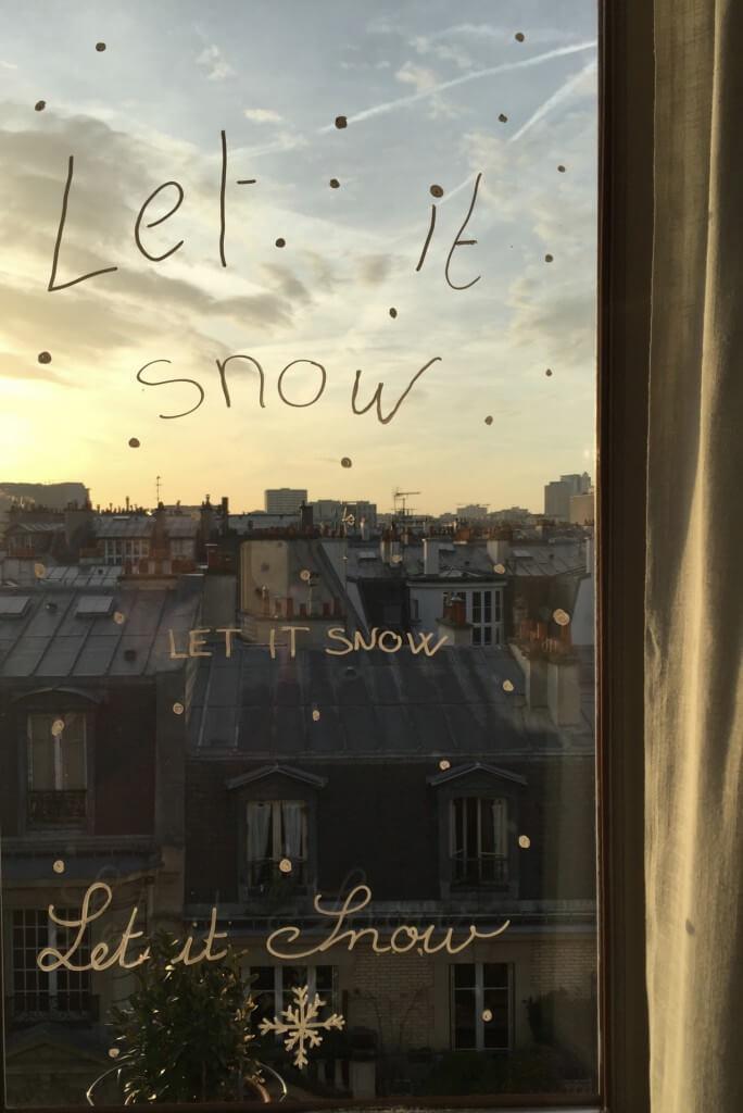 décors de vitres pour Noël