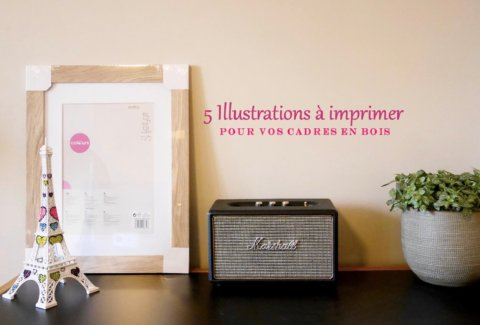 illustrations à imprimer pour cadre en bois