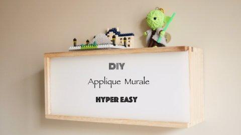 DIY applique murale bois hyper easy